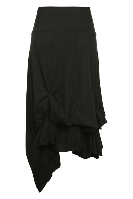 Vigorella Plain Bamboo Tie Up Maxi Skirt - Womens Long Skirts ...