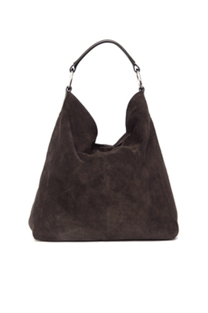 Manzoni Hobo Suede Leather Handbag - Womens Handbags - Birdsnest ...