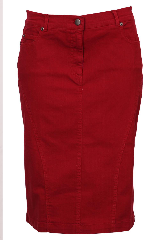 Red Denim Skirt - Dress Ala
