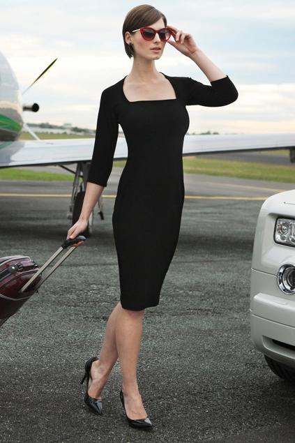 Sacha Drake 3 4 Sleeve Iris Dress Womens Knee Length