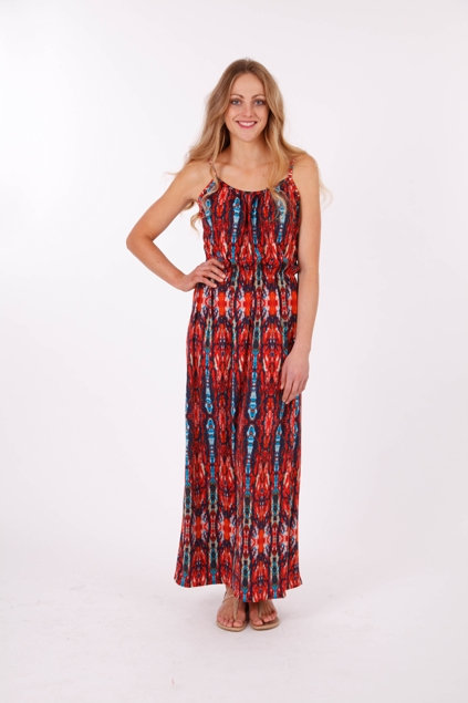 Sunny girl print maxi dress