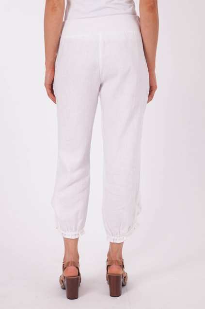 marco polo clothing cropped relaxed linen pant womens pants at birdsnest. Black Bedroom Furniture Sets. Home Design Ideas