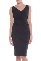 Catelyn dress wrap front  black  small2