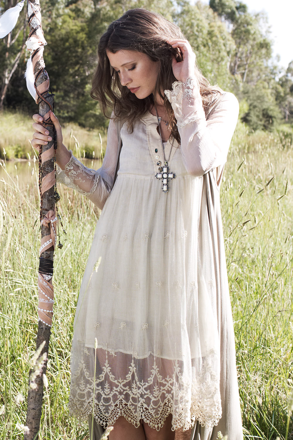 Brands Boho Bird 39305 Had Me At Hello Lace Trim Dress ...