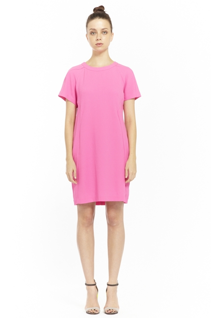 Living Doll clothing online Pink Shift Dress - Womens Short ...