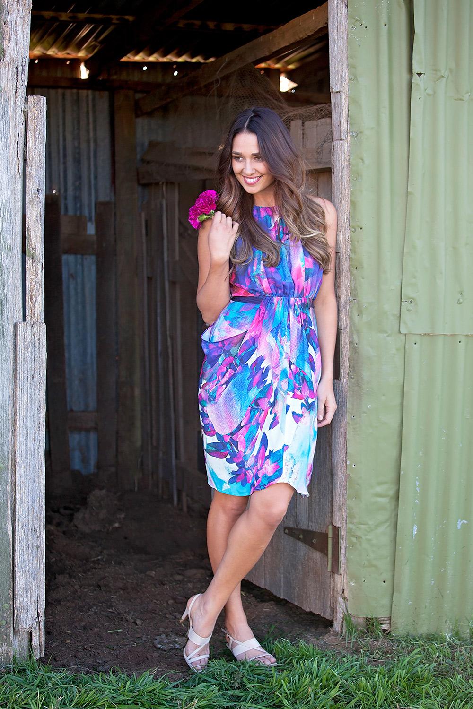 Cooper street watercolor kuta dress