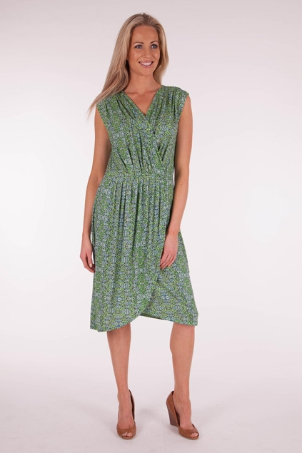 Marco Polo clothing Drop Shoulder Wrap Dress - Womens Knee
