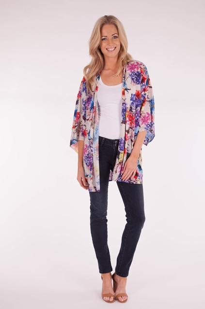 Ladakh clothing Flower Bomb Kimono - Womens Kimonos - Birdsnest Online  Clothing Store
