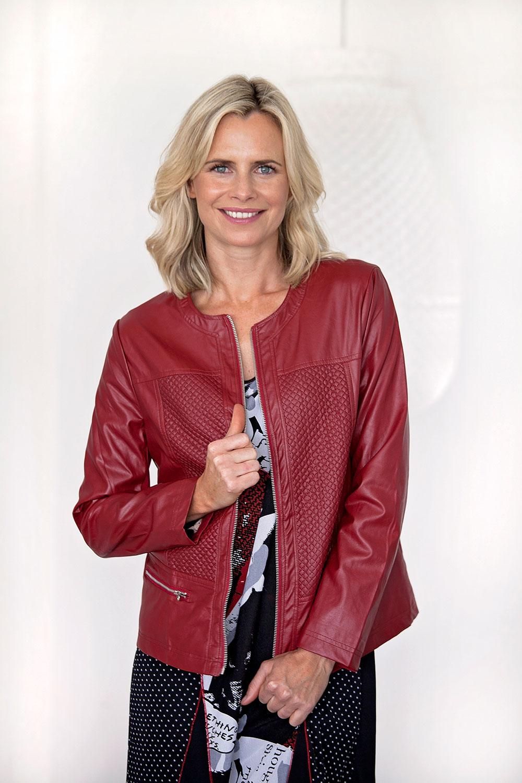 Leather jacket zippay - Threadz Clothing Leather Look Jacket Womens Jackets Birdsnest Online Clothing Store