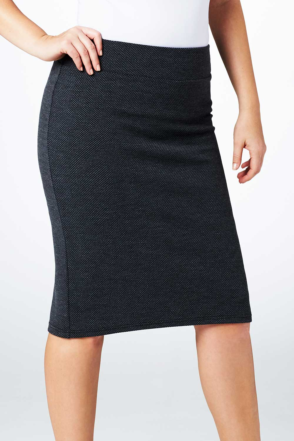 Belle Grey Textured Skirt