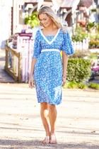 Dove flared sleeve dress bright bloss025 small2