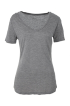 Manhattan v neck tee silver marl small2