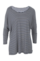 Milan 3 4 sleeve top navywhtstripe small2