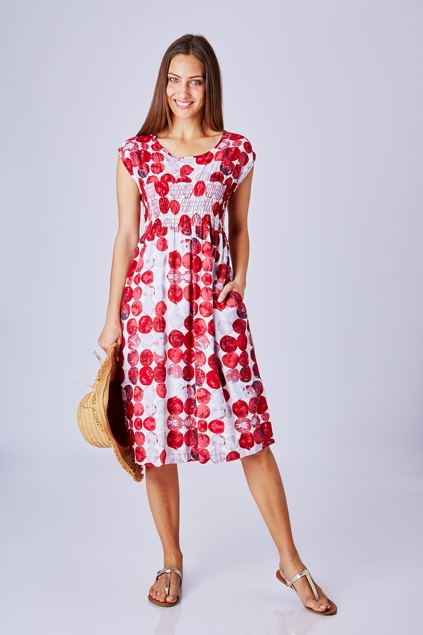marco polo clothing cap sleeve spot dress womens knee. Black Bedroom Furniture Sets. Home Design Ideas