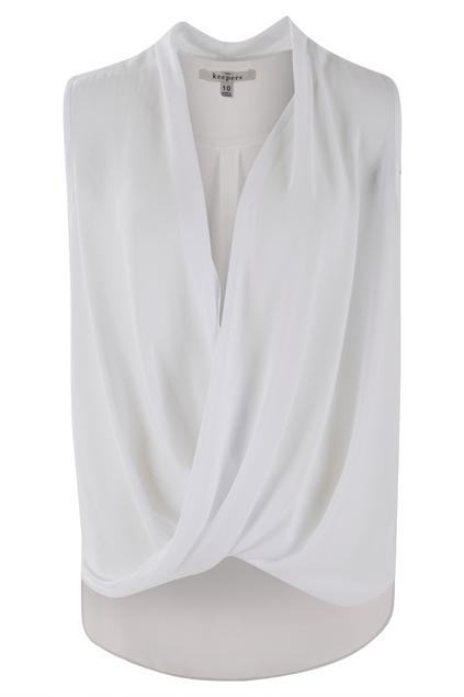 The Sleeveless Cross Over Blouse