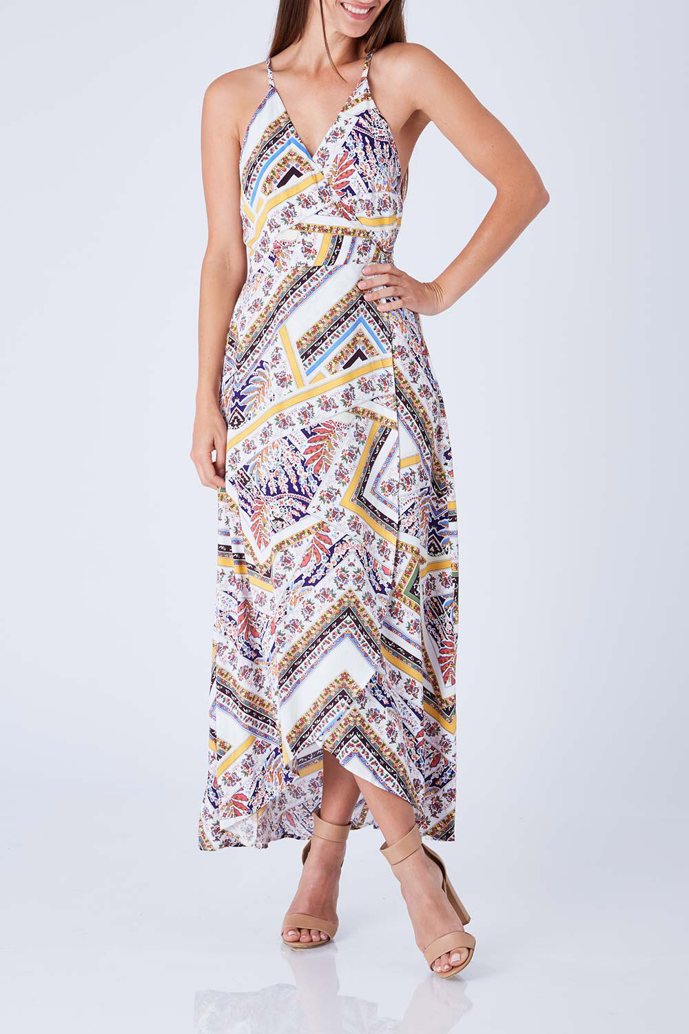 Sunny girl strapless maxi dress