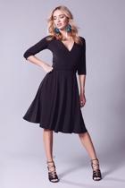 Reverse wrap dress  full skirt   black  small2