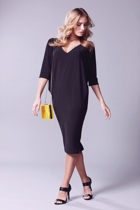 Batwing reversible dress  black  yellow bag small2
