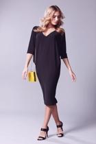 Batwing reversible dress  black  yellow bag small2