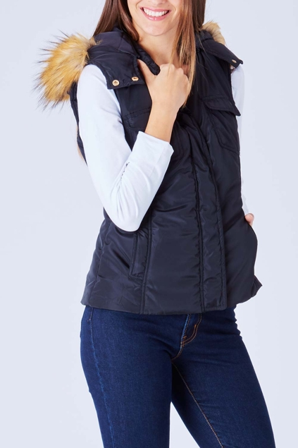 Bird Keepers The Faux Fur Puffer Vest Womens Vests