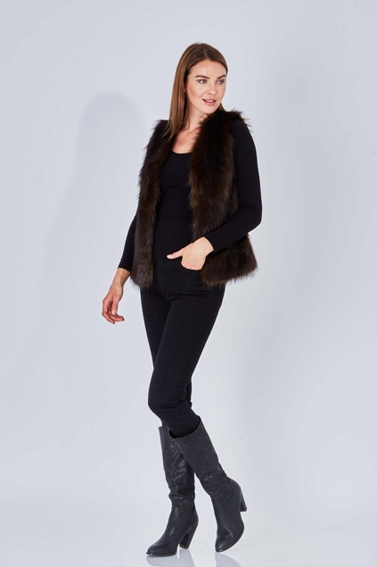 Unreal Fur I'll Take You Too Vest - Womens Vests at Birdsnest Women's  Fashion