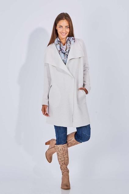 marco polo clothing ls contrast knit coat womens overcoats birdsnest online. Black Bedroom Furniture Sets. Home Design Ideas