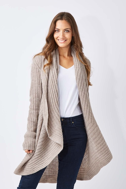 moda immagine ribbed cardigan womens cardigans
