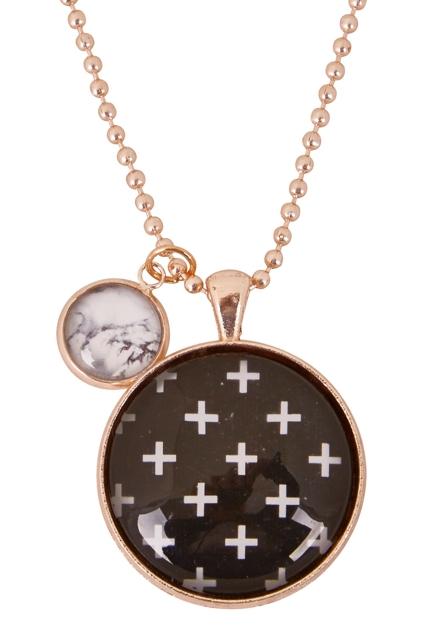 Swiss Cross Pendant Necklace