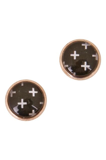 Swiss Cross Stud Earrings