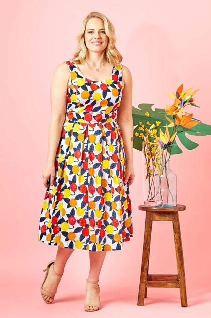 That Bird Label Lori Fit And Flare Dress Jungle Fruit