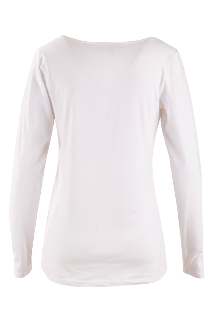 The Long Sleeve V Neck Tee