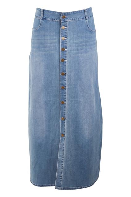 Dusty Footprints Button Skirt