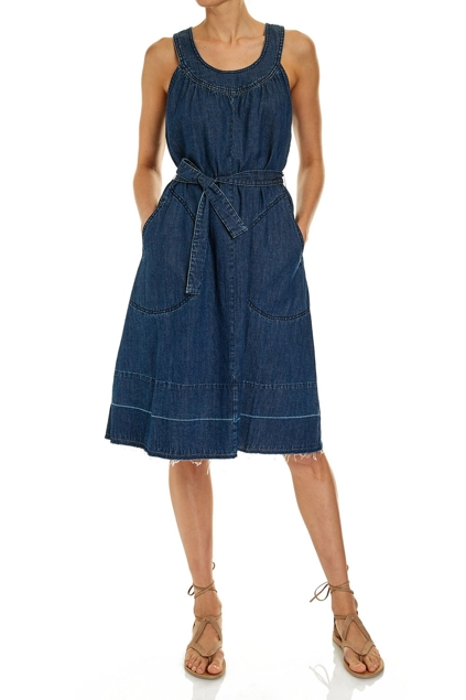 Indigo Knee Length Dress