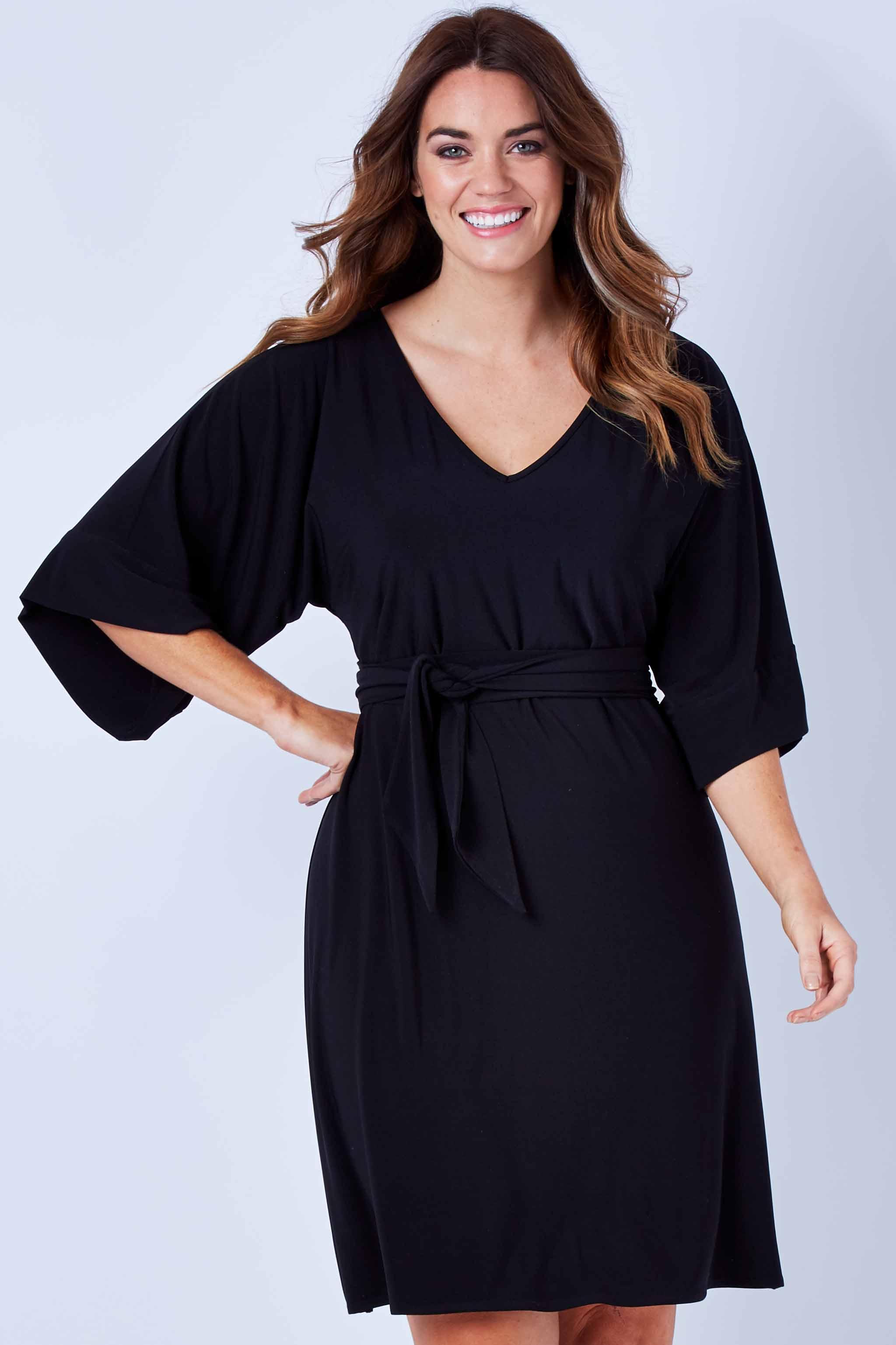 NEW Sacha Drake Womens Knee Length Dresses Kimono Reversible Tunic ...