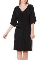 Kimono reversible tunic dress  black  belted v neck  2 1 small2