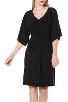 Kimono reversible tunic dress  black  belted v neck  2 1 small2