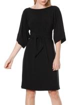 Kimono reversible tunic dress  black  belted v neck small2