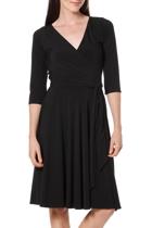 Reverse wrap full skirt dress  black   2  small2