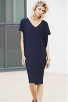 Nat batwing dress  navy  loose  2  small2