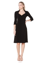 Marique a line dress  black  small2