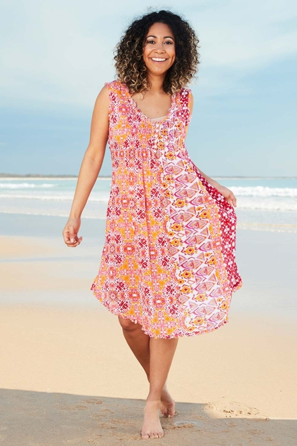 Lula Soul Mauritius Sleeveless Dress Womens Knee Length Dresses At Birdsnest Fashion