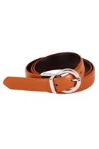 Bird keepers  the bella genuine reversible leather belt  tan birdk bella small2