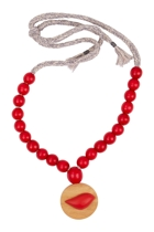 Rare rabbit  birdsnest exclusive birdie on woven tie necklace  red rar 300723exc small2