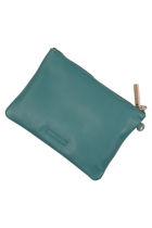 Stitch and hide  cassie leather clutch bag  teal sth cassie small2