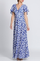 Mica cobalt leaf 2 australian designer sleeved dresses size 18 leina broughton small2