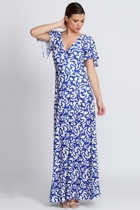 Mica cobalt leaf 3 australian designer sleeved dresses size 18 leina broughton small2