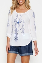 White tunic 18185 denim small2