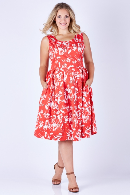 That Bird Label Lori Fit And Flare Dress Sizzling Summer