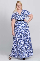 Mica blue leaf plus size dresses sleeved dresses size 18 leina broughton small2