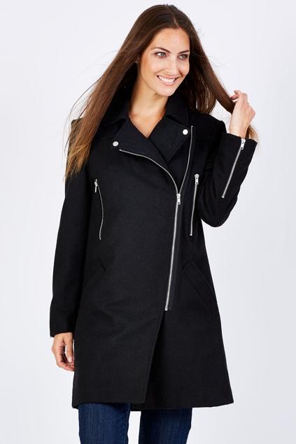 Pretty In Pink Side Zip Coat - Womens Jackets - Birdsnest Clothing ...